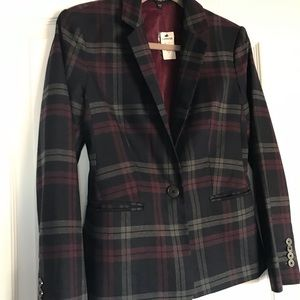 Tailored plaid blazer from Express.
